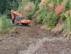 WeineCreek Main Line reconstruction. Eagle Eye Enterprises LTD Yann Gagnon owner/operator, Oct 2012.