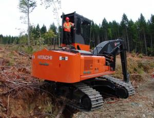 Brand New 290 Hitachi Forester Hoe Chuckes and Loads in Bk B11.  Owners  Burn Dry Wood Inc.  Ashley Mangles Rep. Aug  2013
